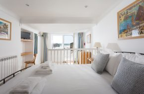 Double bedroom at Captains, self-catering cottage in Rock, Cornwall