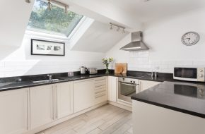 Kitchen at Heron House, self catering cottage in Rock, Cornwall